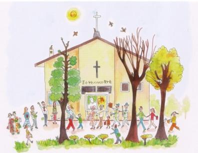教会外観イラスト